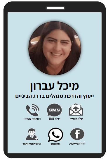מיכל עברון | מנהלת מח' קבלת קהל עמותת עיר דוד